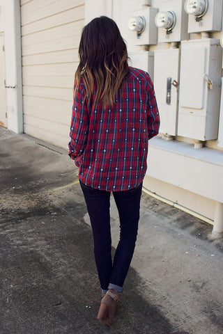 Aztec Plaid Top