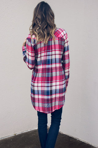 Inner Circle Plaid Top