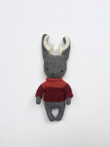 handmade jackalope stuffed animal