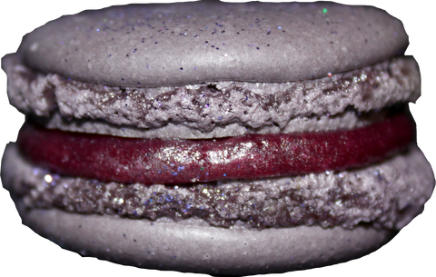 Black Currant French Macarons