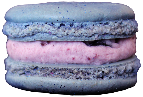 Blueberry French Macarons