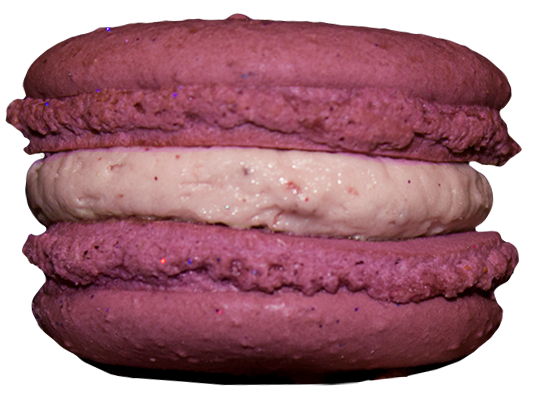 Boysenberry French Macarons