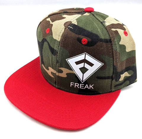 Snapback Hat - Camo / Red