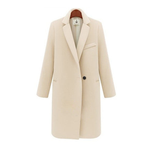 Executive Lady Lapel Topcoat - ADNARAMFEMME
