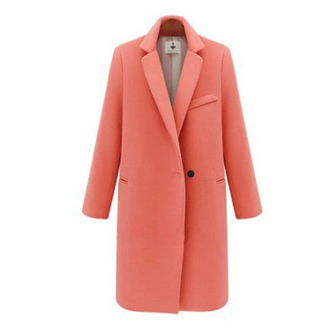 Executive Lady Lapel Topcoat CORAL PINK