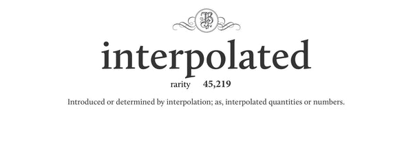 interpolated