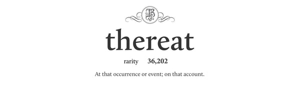 thereat