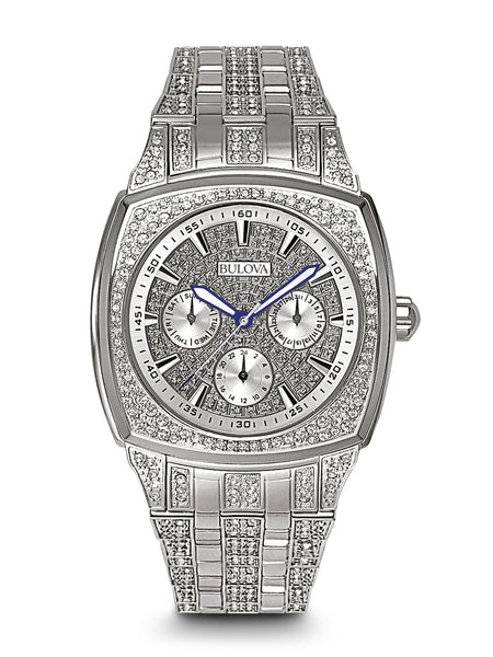 Bulova 96c002 men 39 s crystal watch bulova for Crystal watches