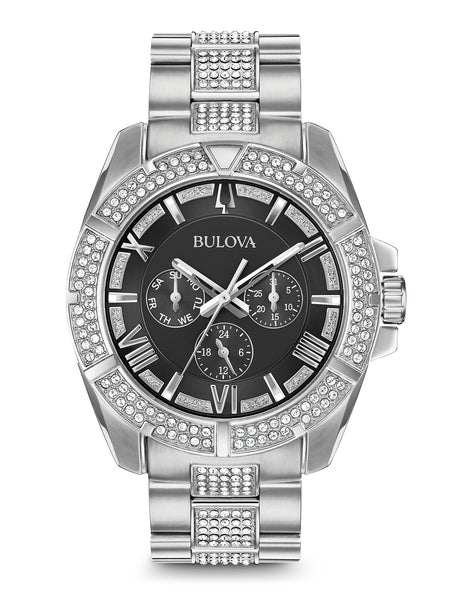 Men 39 s crystal watches bulova for Bulova watch