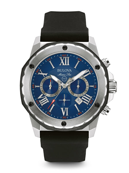 Bulova marine star 98b258 men 39 s chronograph watch bulova for Marine watches