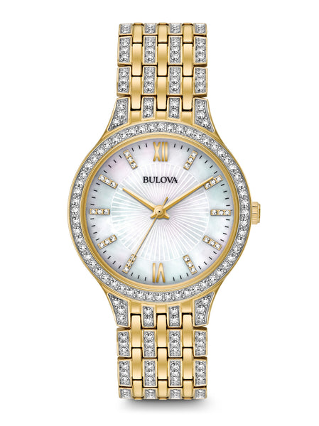 Women 39 s crystal watches bulova for Crystal watches