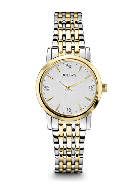 Women S Gold Two Tone Diamond Water Resistant Classic