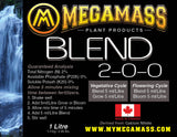 Mega Mass - Blend, Mega Mass Plant Products, IncrediGrow, IncrediGrow - IncrediGrow