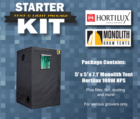 Starter Kit: HPS IncrediPackage - Monolith 5 x 5 feat. Hortilux!