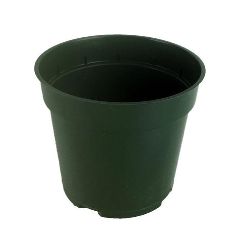 Green pot plastic container 4-6 inch, Container & Saucers, IncrediGrow, IncrediGrow - IncrediGrow