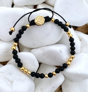 Mini Onyx Bracelet - Gold-Goldoni Milano