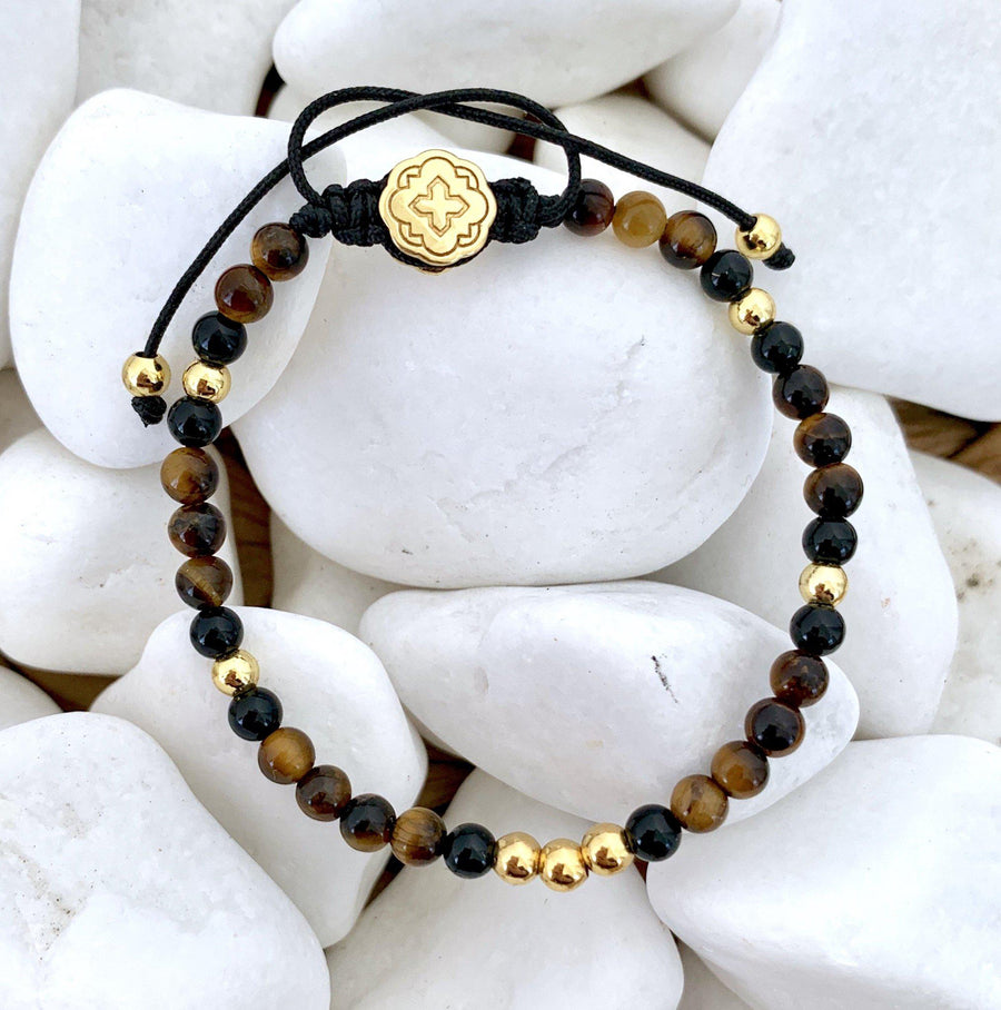 Mini Tiger Eye Bracelet - Gold - Goldoni Milano