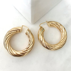 Gloria Twisted Hoops