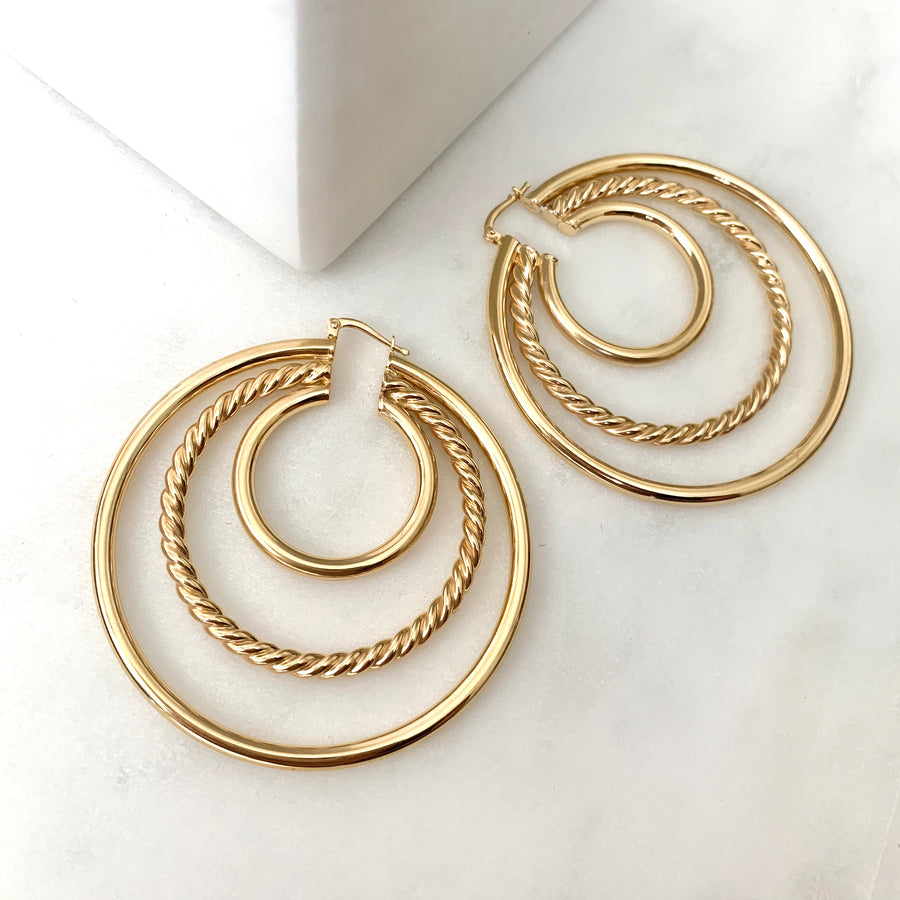 Cascade Triple Hoops