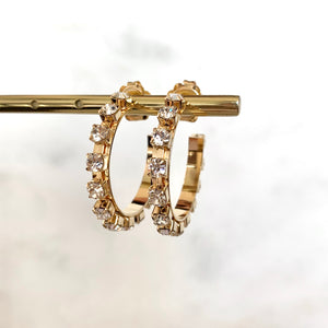 Mini Luce Crystal Hoops