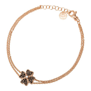 Four Leaf Clover Chain Bracelet - Rose Gold-Goldoni Milano