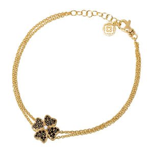 Four Leaf Clover Chain Bracelet - Gold-Goldoni Milano