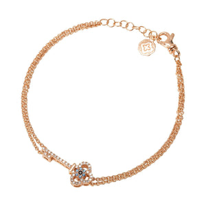 Key Chain Bracelet - Rose Gold-Goldoni Milano