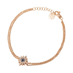 Sun Chain Bracelet - Rose Gold-Goldoni Milano