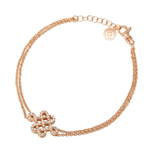 Celtic Knot Chain Bracelet - Rose Gold-Goldoni Milano