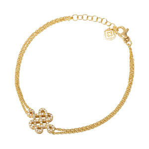 Celtic Knot Chain Bracelet - Gold-Goldoni Milano