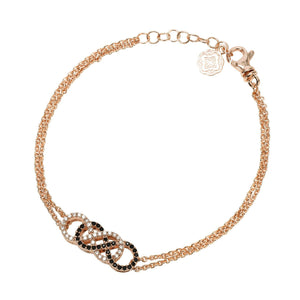 Double Infinity Chain Bracelet - Rose Gold-Goldoni Milano