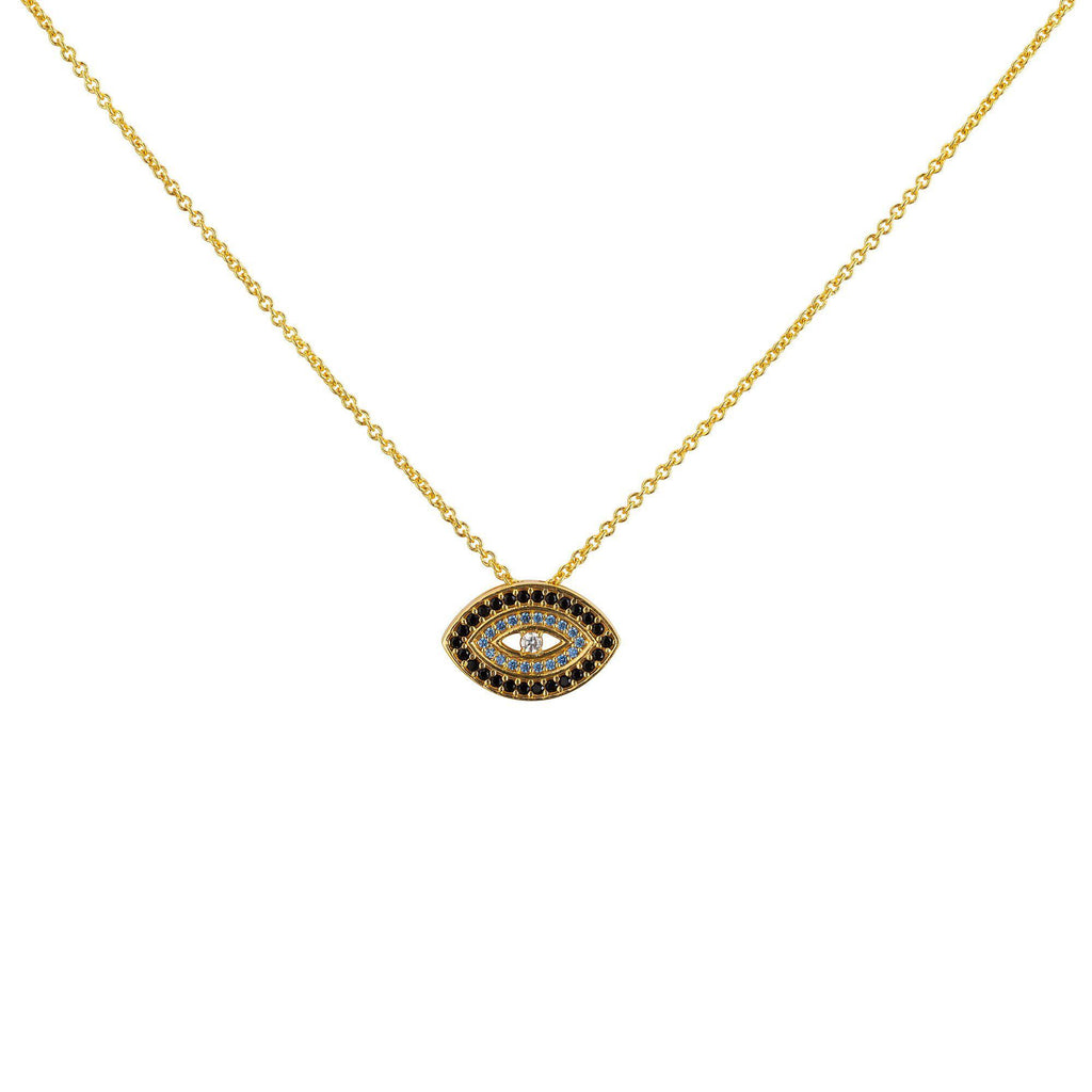 Blue Evil Eye Necklace - Gold - Goldoni Milano