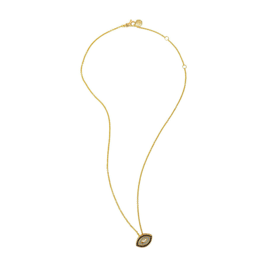 Blue Evil Eye Necklace - Gold-Goldoni Milano