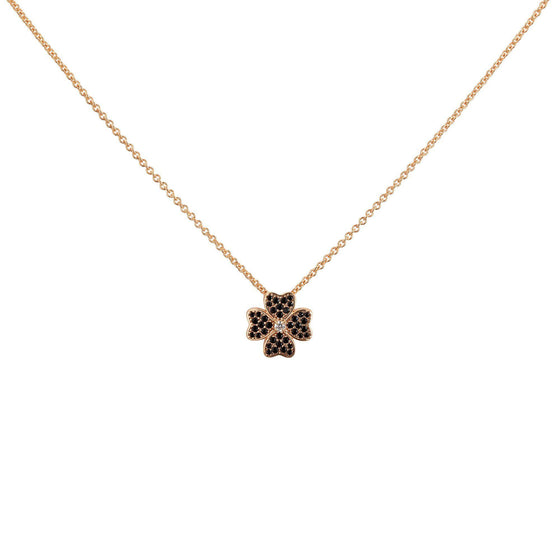 Four Leaf Clover Necklace - Rose Gold - Goldoni Milano