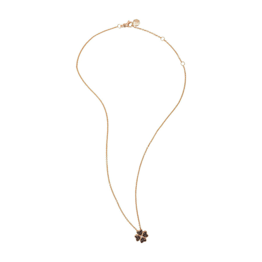 Four Leaf Clover Necklace - Rose Gold-Goldoni Milano