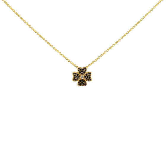 Four Leaf Clover Necklace - Gold - Goldoni Milano