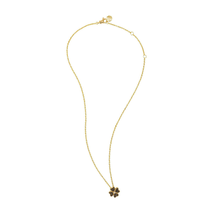 Four Leaf Clover Necklace - Gold-Goldoni Milano