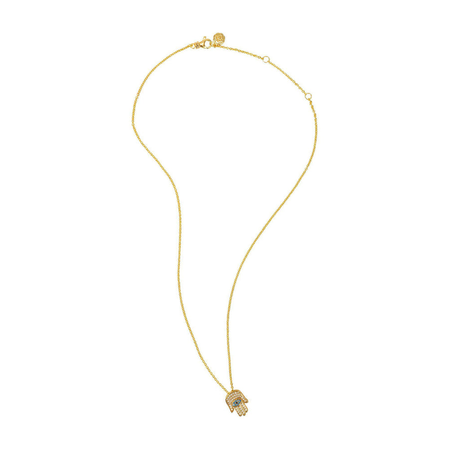 Hamsa Necklace - Gold-Goldoni Milano