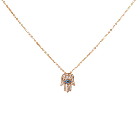 Hamsa Necklace - Rose Gold - Goldoni Milano