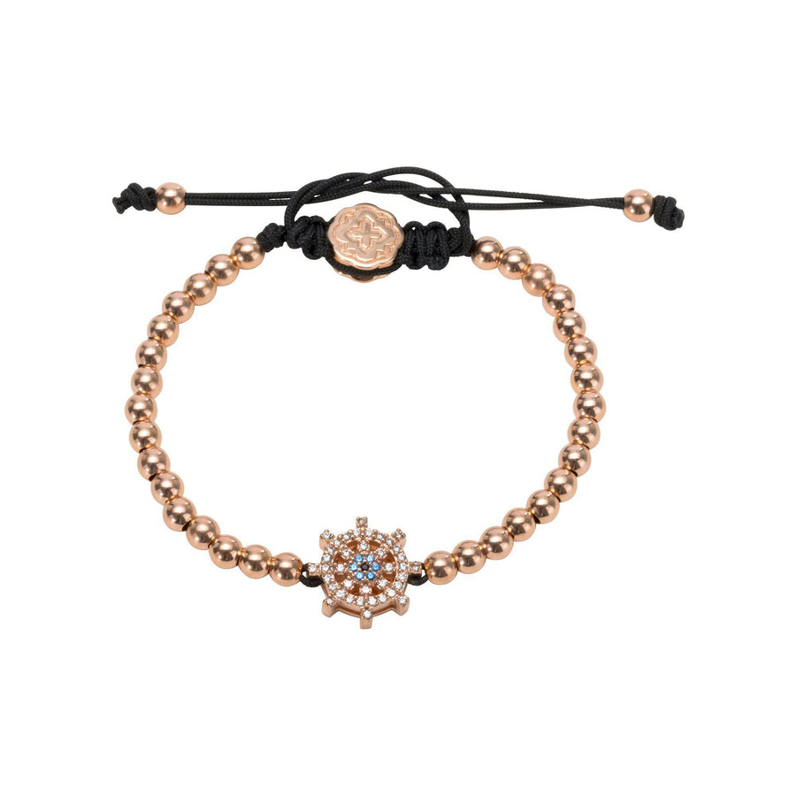 Ship Wheel Bracelet - Rose Gold-Goldoni Milano