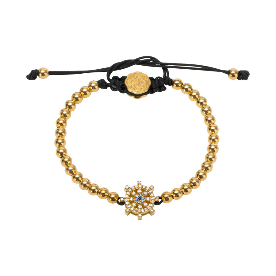 Ship Wheel Bracelet - Gold-Goldoni Milano