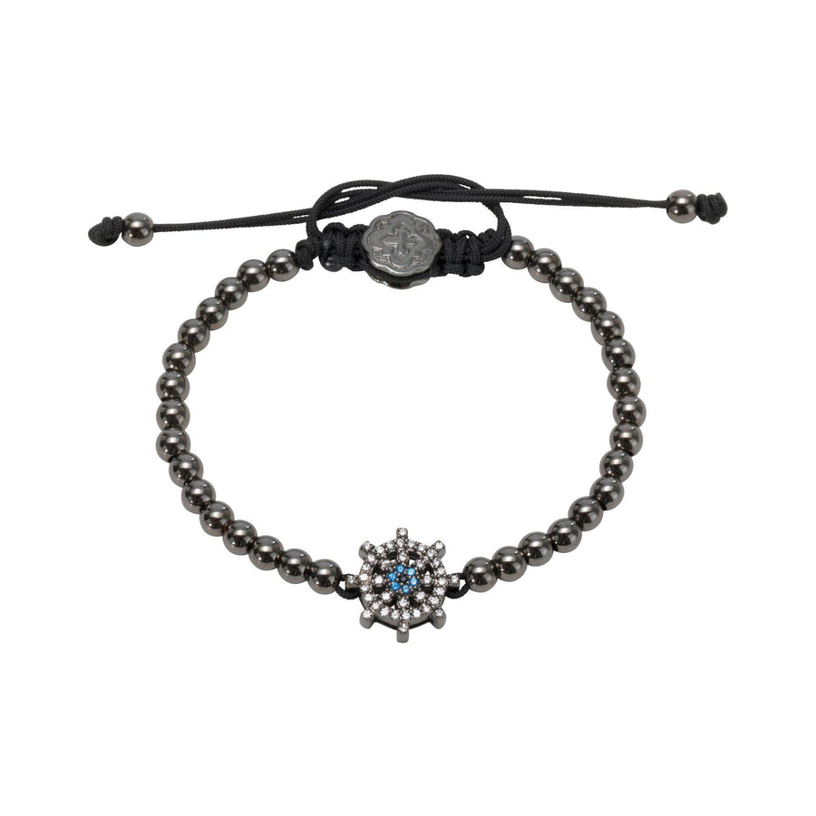 Ship Wheel Bracelet - Ruthenium-Goldoni Milano