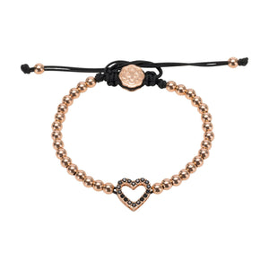 Heart Bracelet - Rose Gold-Goldoni Milano