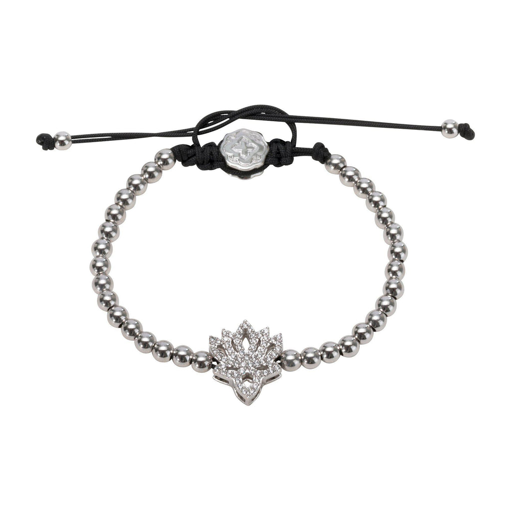 Lotus Flower Bracelet - Rhodium - Goldoni Milano