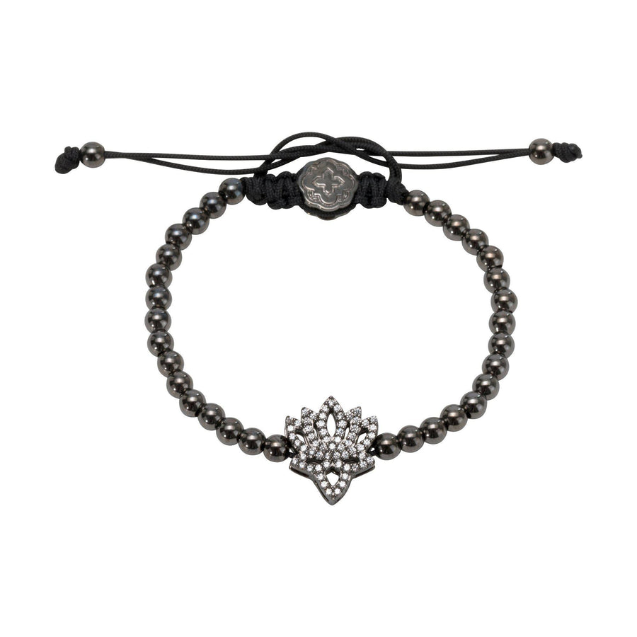 Lotus Flower Bracelet - Ruthenium - Goldoni Milano