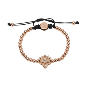 Lotus Flower Bracelet - Rose Gold-Goldoni Milano