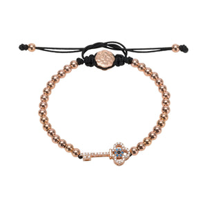 Key Bracelet - Rose Gold-Goldoni Milano