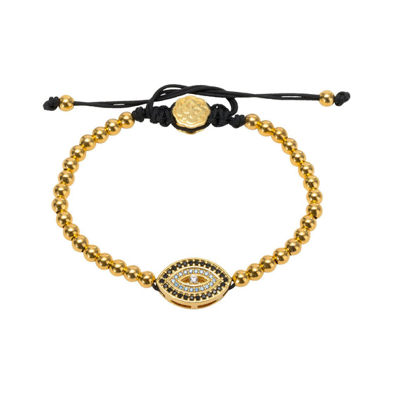 Blue Evil Eye Bracelet - Gold - Goldoni Milano