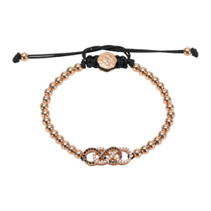 Double Infinity Bracelet - Rose Gold-Goldoni Milano