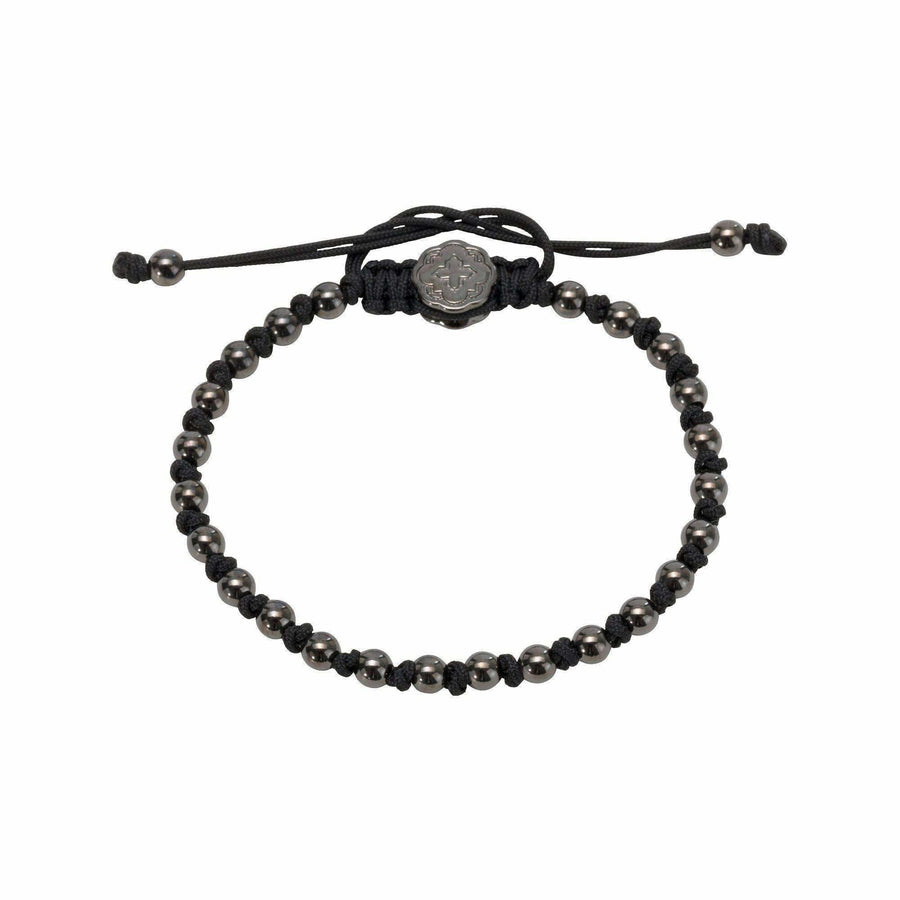 Alternated Mini Ball Bracelet - Ruthenium-Goldoni Milano